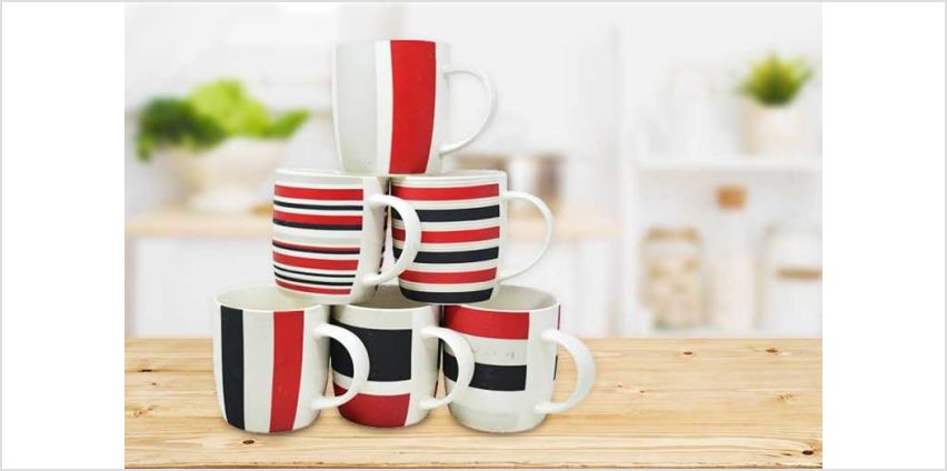 £7.99 instead of £27 (from Direct2Publik) for a set of six ceramic mugs - save 70% from Wowcher
