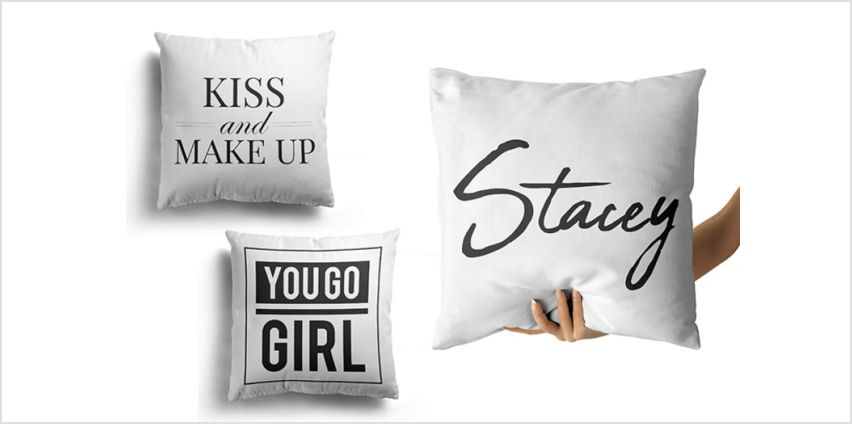 £3.99 instead of £16.99 (from Personalised Gifts Market) for a personalised cushion cover - save 77% from Wowcher