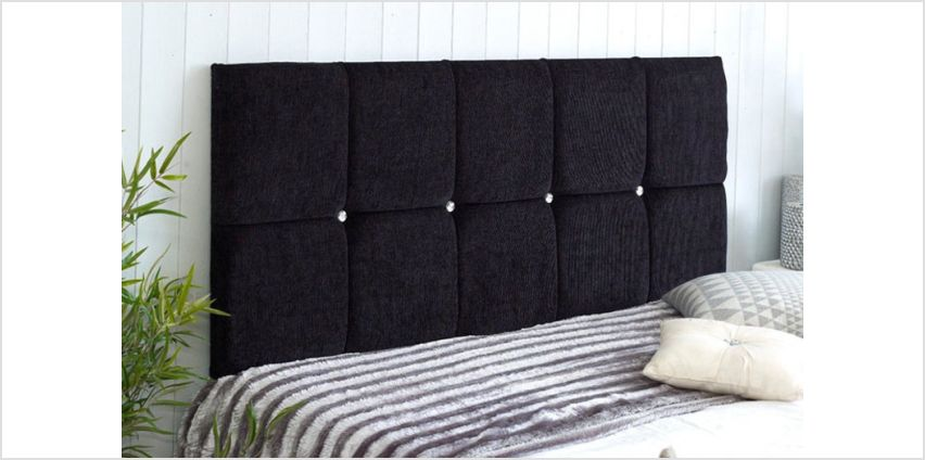 From £19 instead of £45.99 (from Serenity Designs) for a chenille fabric headboard - save up to 59% from Wowcher
