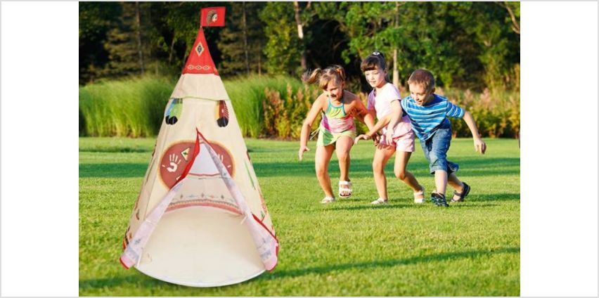 £17.99 instead of £59.99 (from Wow What Who) for a kids teepee tent - save 70% from Wowcher