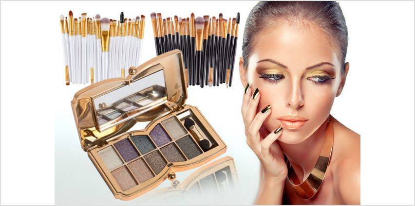 £6 instead of £69.98 for a 20pc eye makeup brush set and 10 colour butterfly eye shadow palette from Forever Cosmetics - save up to 91% from Wowcher