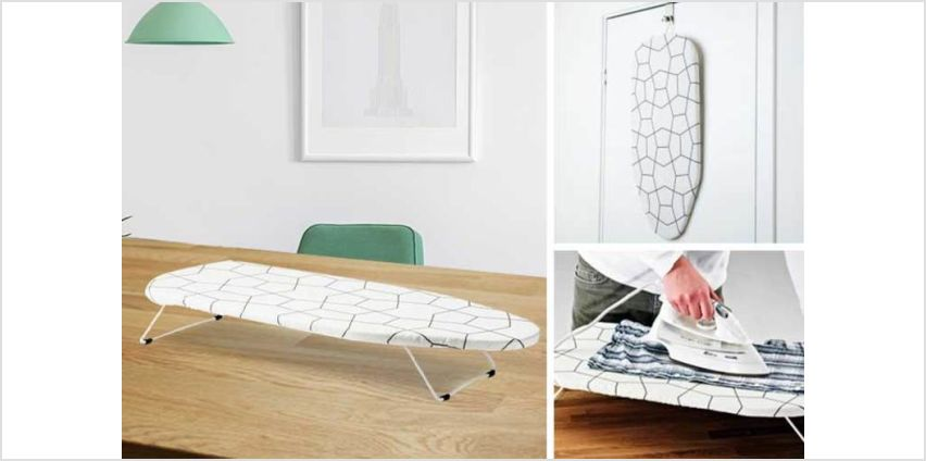£7.99 instead of £24.99 (from Fusion Online) for a table-top mini ironing board - save 68% from Wowcher
