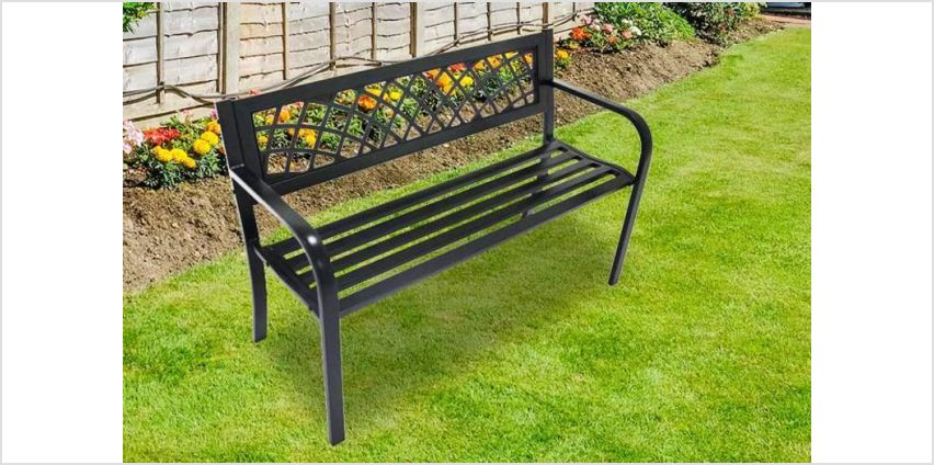 £39 instead of £99.99 for a black metal garden bench from ViVo Technologies - save 61% from Wowcher