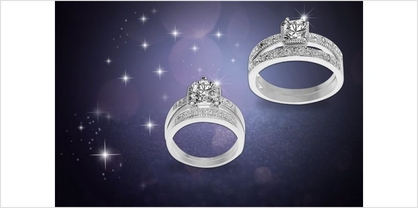 £8 instead of £68 for a cubic zirconia ring set from Evoked Design - save 88% from Wowcher