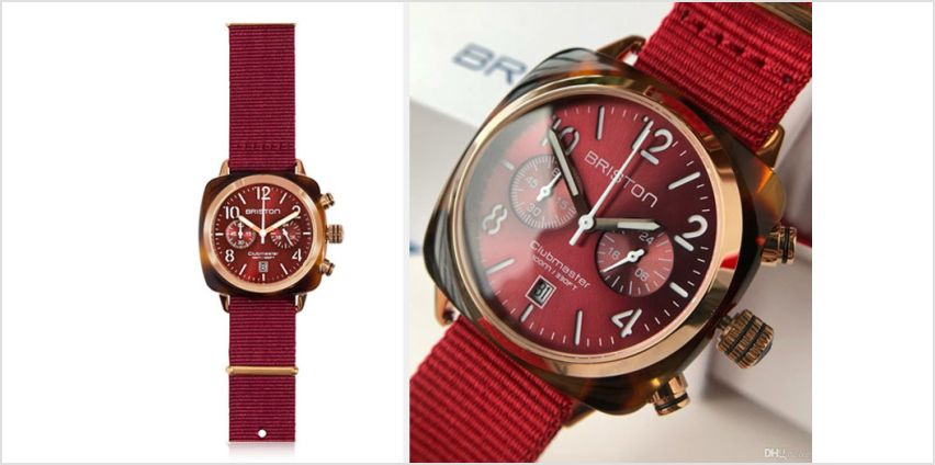 £119 instead of £249 (from Best Watch Company) for a Briston Clubmaster Classic tortoise shell red unisex watch - save 52% from Wowcher