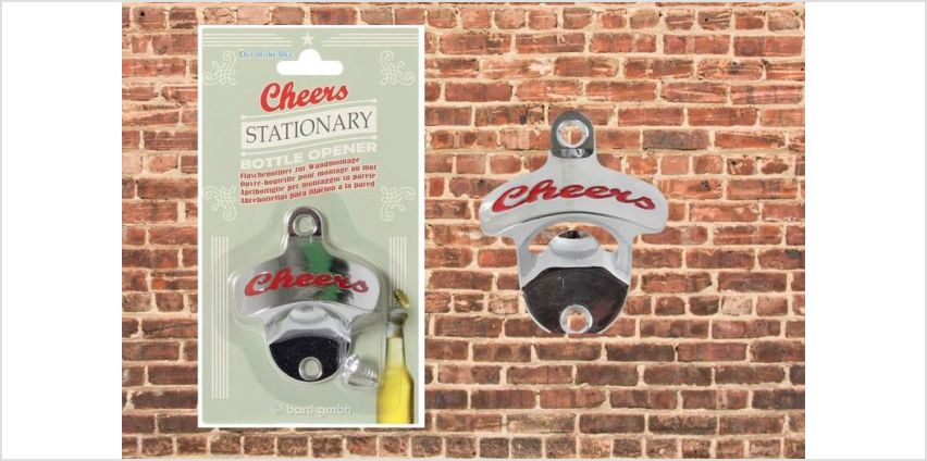 £2.99 instead of £14.99 for a retro wall-mounted bottle opener from London Exchain Store - save 80% from Wowcher