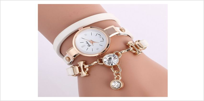 £7.99 for a crystal drop snake wrap watch from Solo Act Ltd from Wowcher