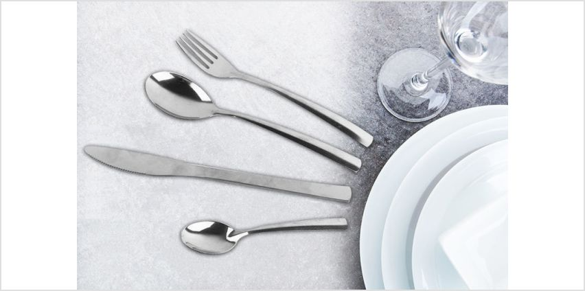 £6.99 instead of £27 (from Direct2Publik) for a 32-piece cutlery set - save 74% from Wowcher