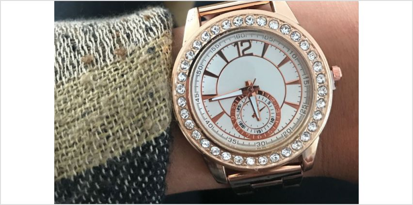 £8.99 instead of £29 for a Jessica Rose crystal watch from Solo Act Ltd - save 69% from Wowcher