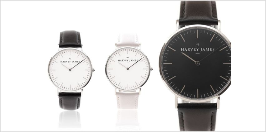 From £39 instead of £199 (from Harvey James) for a luxury unisex watch, choose from seven designs and - save up to 80% from Wowcher