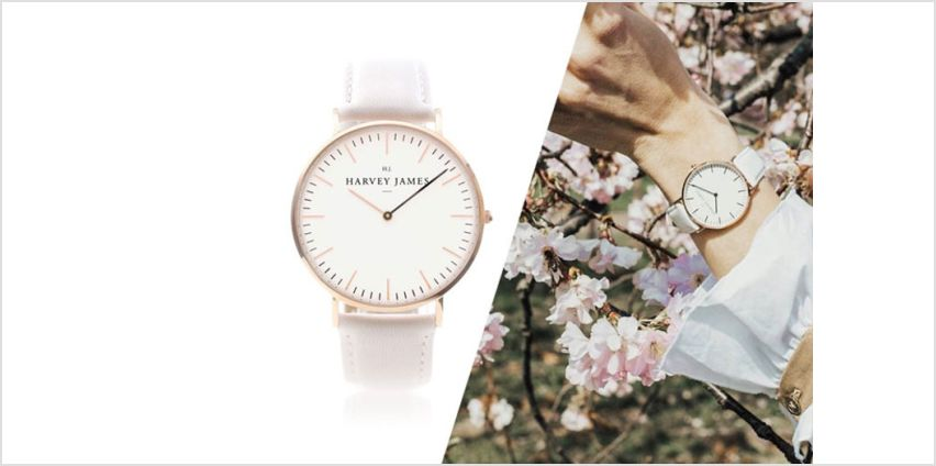 From £39 instead of £199 (from Harvey James) for a unisex rose gold watch - choose from three designs and save up to 80% from Wowcher