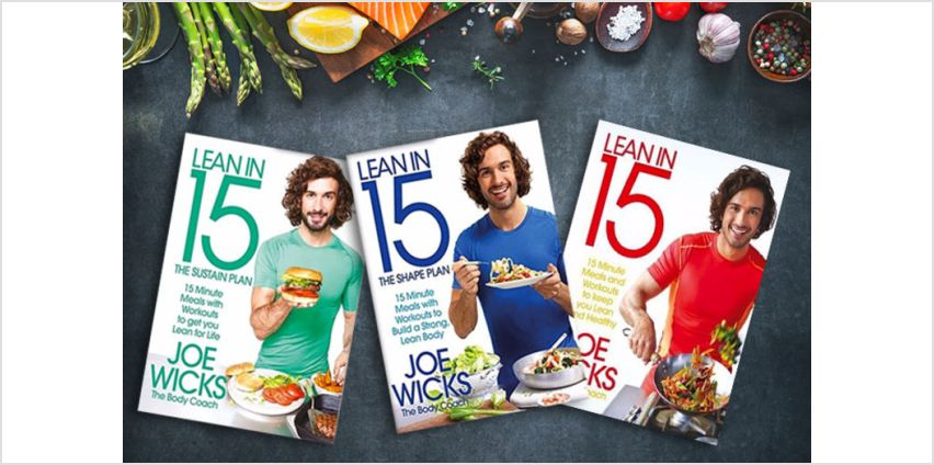 £29.99 instead of £48.97 for a Joe Wicks 'Lean in 15' book collection from PCS Books Ltd - save 39% from Wowcher