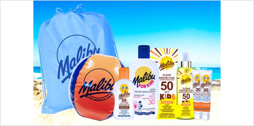 £14.99 instead of £30.93 (from Malibu Sun) for a Malibu sun kids protection collection - save 52% from Wowcher