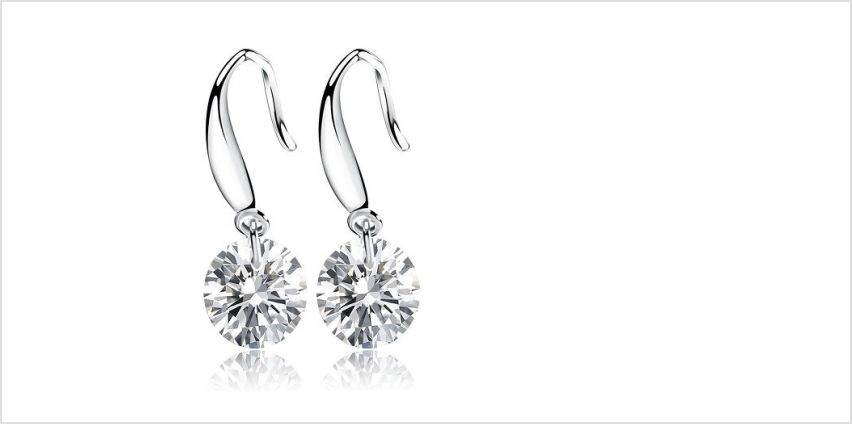 £7.49 instead of £39 for a crystal drop round earrings from Genova International Ltd - save 81% from Wowcher