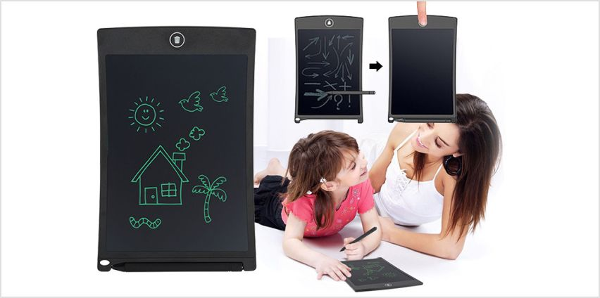 "£11.99 instead of £53.99 for an 8.5"" LCD kid's digital writing pad from Vivo Technologies - save 78% from Wowcher"