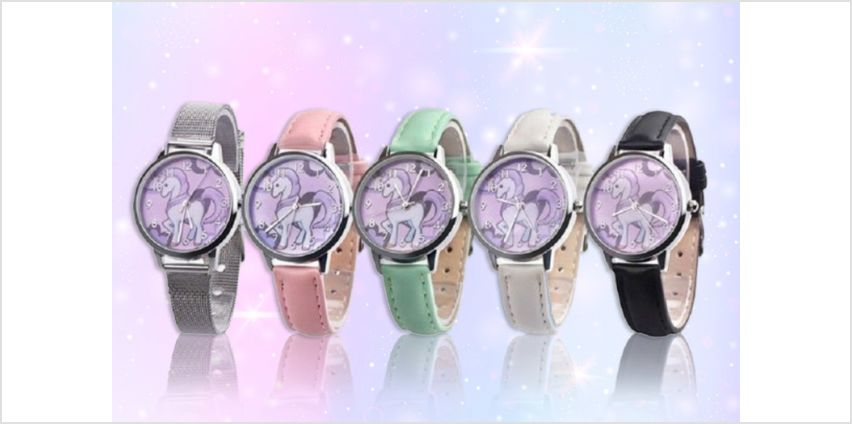 £2.99 instead of £19 (from hey4beauty) for a unicorn themed wrist watch - save 84% from Wowcher