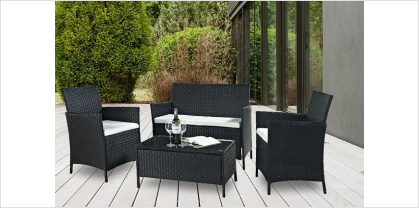 £99 instead of £699 (from Esenti) for a four-piece rattan garden or conservatory furniture set - save 86% from Wowcher