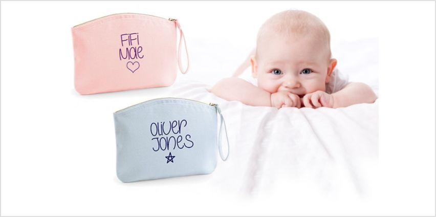 £8.99 instead of £19.99 (from Carrera) for a personalised nappy pouch - save 82% from Wowcher