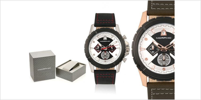 £99 instead of £820 (from Morphic Watches) for a Morphic M57 series men's watch - choose from seven designs and save 88% + DELIVERY IS INCLUDED! from Wowcher