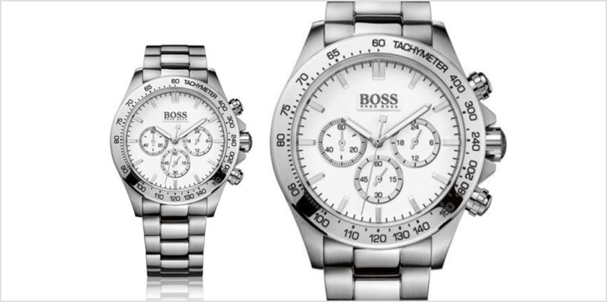 £129 instead of £366 (from The Best Watch Company) for a Hugo Boss Ikon stainless steel chronograph watch – save 65% from Wowcher