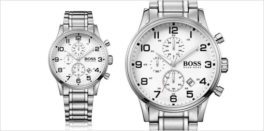 £129 instead of £346 (from The Best Watch Company) for a Hugo Boss Aeroliner stainless steel chronograph watch – save 63% from Wowcher