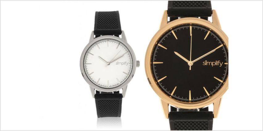 £39 (from Simplify Watches) for a Simplify 5200 unisex watch - choose from six designs! from Wowcher