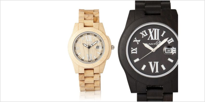 £49 instead of £130 (from Earth Wooden Watches) for an eco-friendly wooden watch - choose from four designs and save 62% + DELIVERY IS INCLUDED! from Wowcher