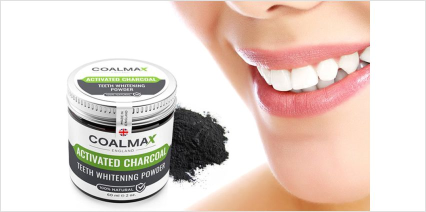 £1 for a 60ml pot of activated charcoal teeth whitening powder! from Wowcher