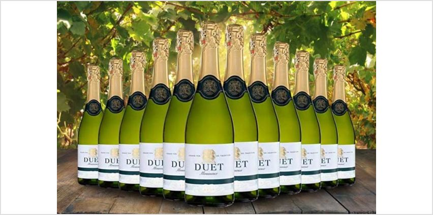 £39 (from Q Regalo) for a case of 12 bottles of Duet sparkling brut Spanish wine from Wowcher