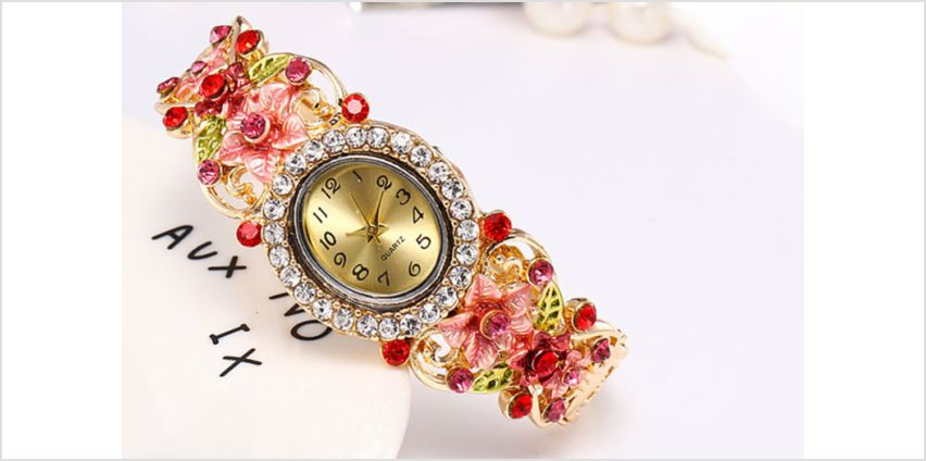 £9 instead of £29.99 (from Magic Trend) for a floral gem watch - save 70% from Wowcher