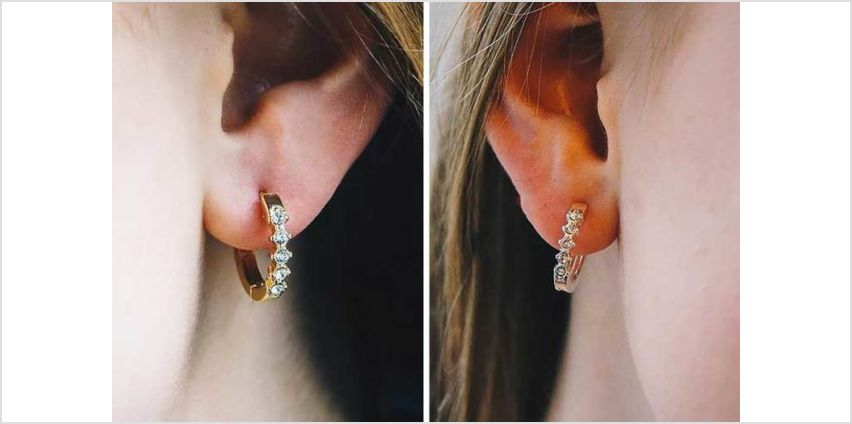 £5.99 (from Philip Jones) for a pair of five stone hoop earrings made with crystals from Swarovski ® – choose from three colours from Wowcher