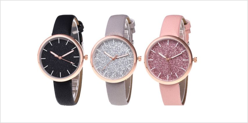 £5.99 instead of £28 (from Magic Trend) for a sparkly watch - choose from five colours and save 79% from Wowcher