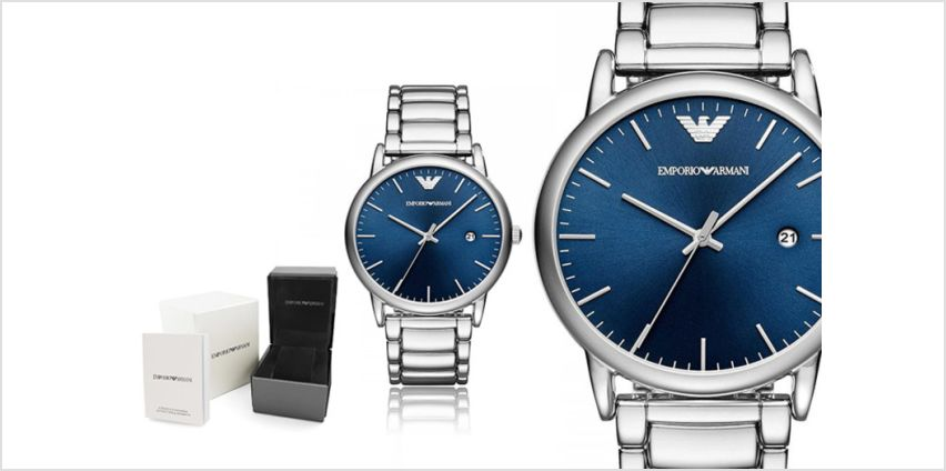 £109 instead of £229 (from Ticara Watches) for a Emporio Armani AR11089 men's blue dial watch - save 52% from Wowcher