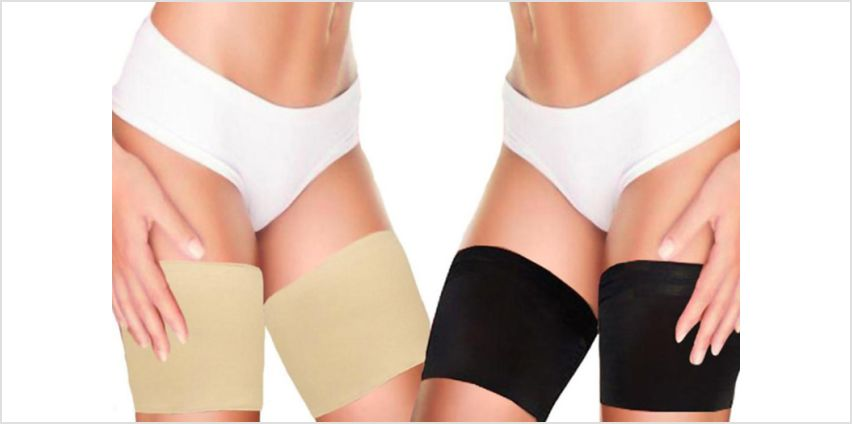 £3.49 instead of £14.99 (from Boni Caro) for a pair of anti-chafing thigh bands, £6.98 for two pairs or £12.98 for three pairs –save up to 77% from Wowcher