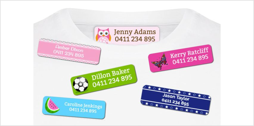 £4.99 instead of £17.99 (from Dinkleboo) for a pack of 44 iron-on name labels - save 72% from Wowcher
