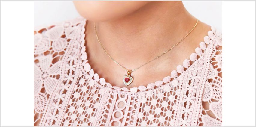 £19.99 instead of £339.16 (from Ah! Jewellery) for a gold-filled genuine ruby heart necklace - save 94% from Wowcher