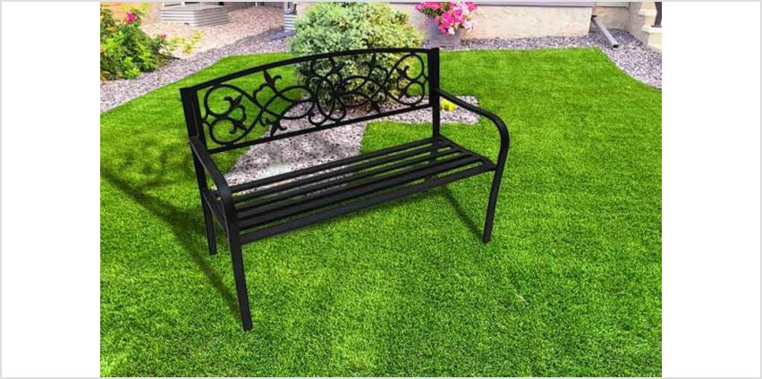 £38 instead of £183.30 (from Who Needs Shops) for a two-seater black metal garden bench - save 79% from Wowcher