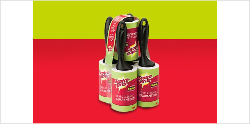 £16.99 instead of £21.95 (Trojan Electronics) for a pack of five Scotch-Brite lint rollers - save 23% from Wowcher