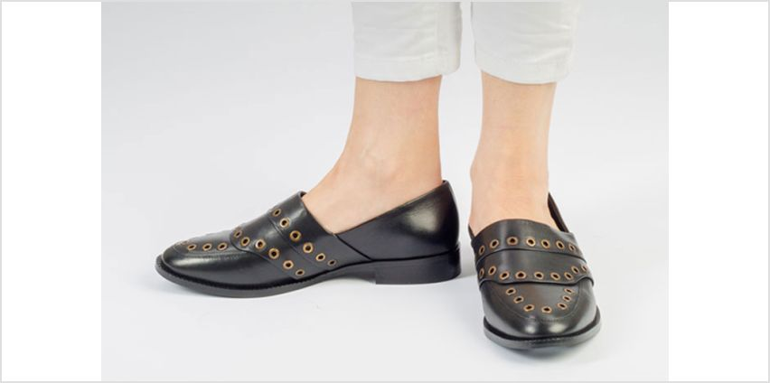 £24.99 (from Forever Me London) for a pair of leather Jenny eyelet two-tone loafers from Wowcher