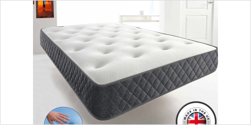 From £59 for a single, small double or double (£79) or king (£99) Cool-Blue Memory Foam Mattress from Dreamtouch Mattresses LTD - save up to 80% from Wowcher