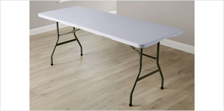£24.99 (from Big Furniture Warehouse) for a six-foot folding trestle table - get outdoors! from Wowcher