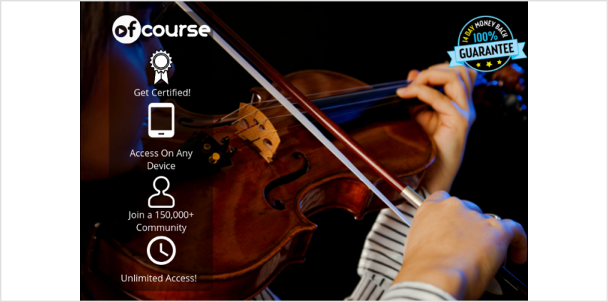 £9 instead of £79 for an online violin for beginners course - unlimited access from OfCourse - save 89% from Wowcher