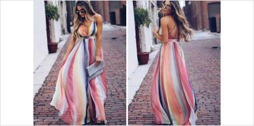 £12 instead of £29.99 (from Backtogoo) for a pastel striped maxi dress – save 60% from Wowcher