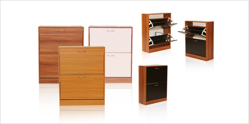 £34.99 instead of £120.99 for a 3-drawer shoe cabinet from Cosmo Buy Limited - save 71% from Wowcher