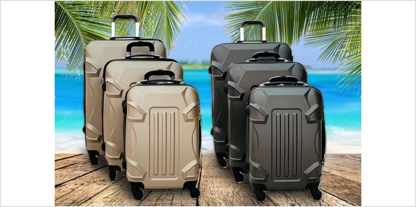 "£69.99 instead of £279.99 for three (20"", 24"" & 28"") ABS hard shell suitcases from Happydealz LTD - save 75% from Wowcher"