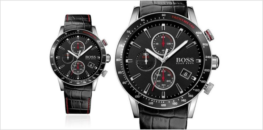 £129 instead of £292.01 (from Cheap Designer Watches) for a Hugo Boss men's black Rafale HB1513390 chronograph watch - save 56% from Wowcher