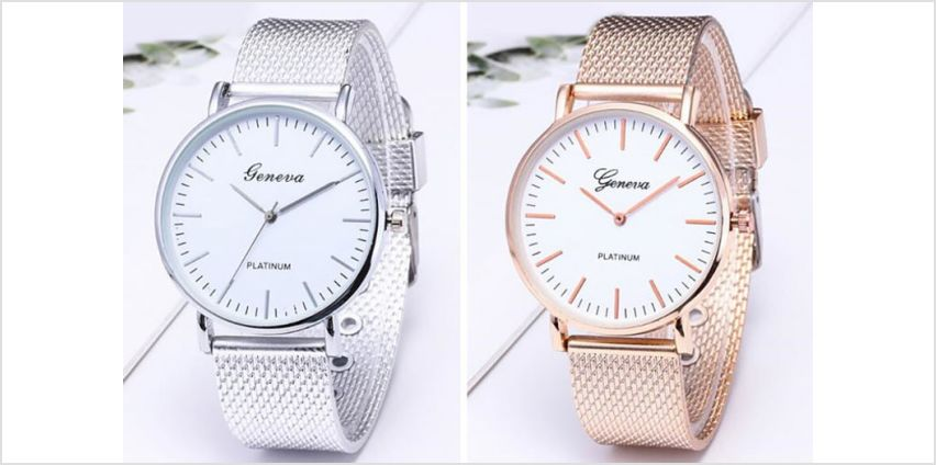 £6.99 instead of £19.99 (from MBLogic) for a ladies' mesh watch - choose from four colours and save 65% from Wowcher
