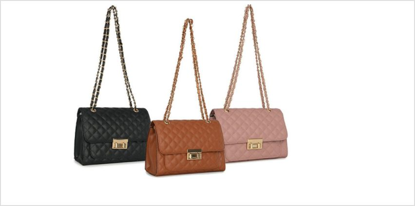 £8.99 (from Belle Accessories) for a quilted bag with chain strap - choose from three colours from Wowcher