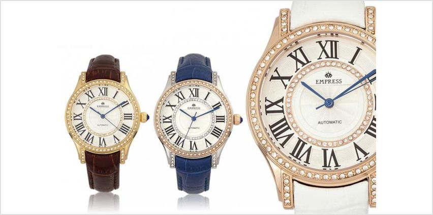 £119 instead of £978.01 (from Empress) for a luxury automatic Xenia watch – choose from five designs and save 88% from Wowcher