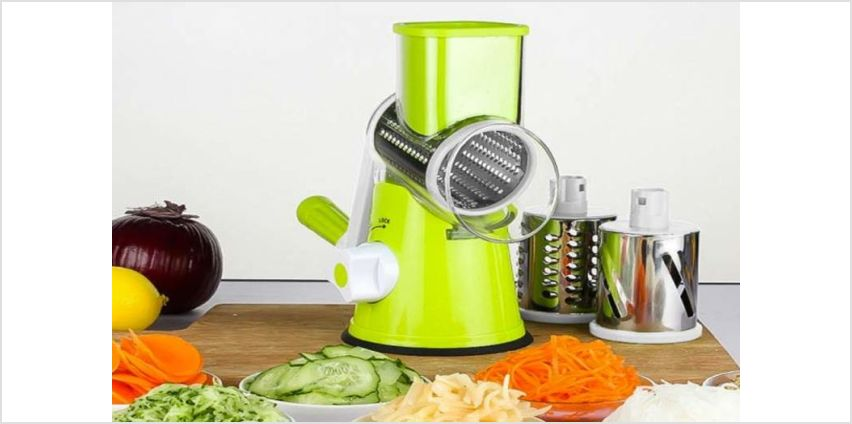 £14.99 instead of £49.99 (from Backtogoo) for a hand-operated vegetable cutter - choose from three colours and save 70% from Wowcher